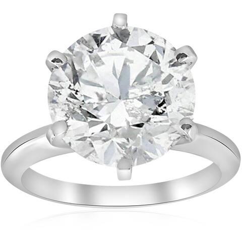 Pompeii3 14k White Gold 4 ct. TDW Enhanced Solitaire Diamond Engagement Ring