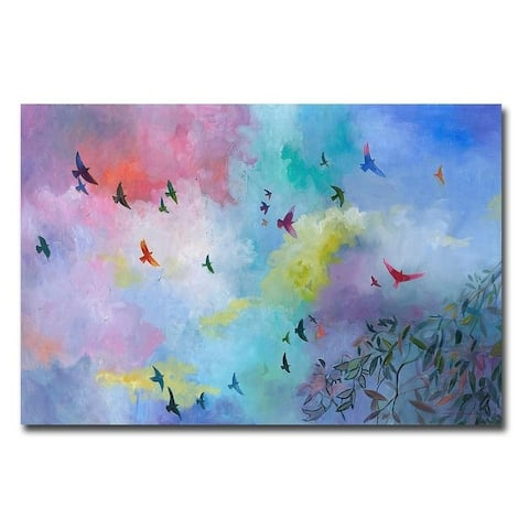 Sky is the Limit by Julia Hacker Gallery Wrapped Canvas Giclee Art (24 in x 36 in, Ready to Hang)
