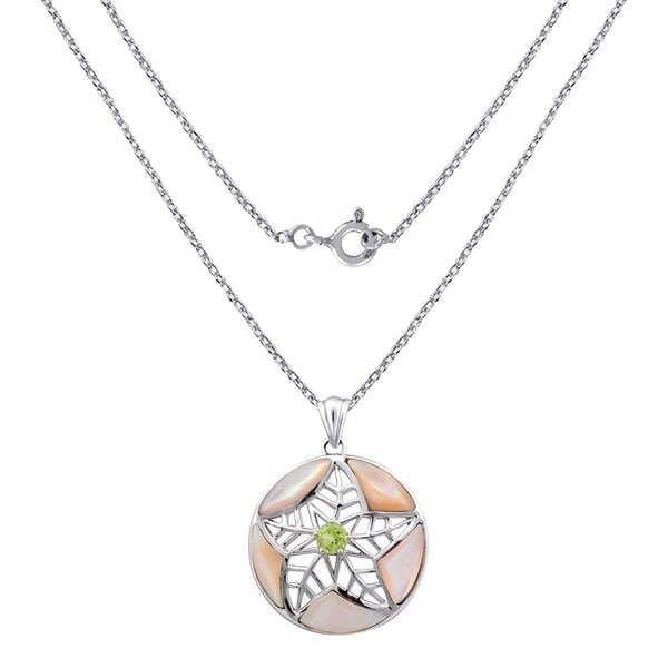 Sterling Silver Fancy Round Pendant