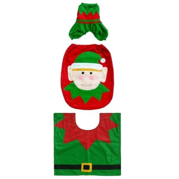 Marvelous Shop 3Pcs Set Christmas Santa Snowman Toilet Seat Cover Pabps2019 Chair Design Images Pabps2019Com