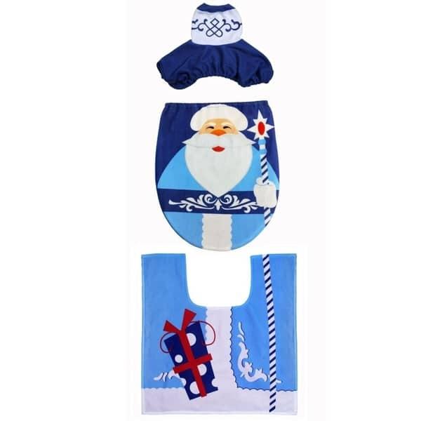 Magnificent Shop 3Pcs Set Christmas Santa Snowman Toilet Seat Cover Evergreenethics Interior Chair Design Evergreenethicsorg
