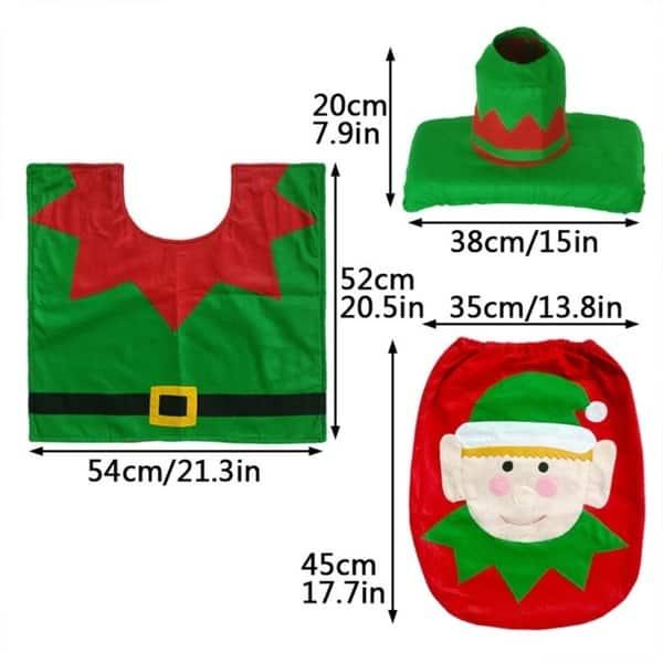 Remarkable Shop 3Pcs Set Christmas Santa Snowman Toilet Seat Cover Pabps2019 Chair Design Images Pabps2019Com