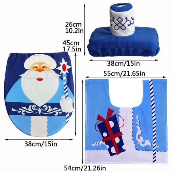 Excellent Shop 3Pcs Set Christmas Santa Snowman Toilet Seat Cover Cjindustries Chair Design For Home Cjindustriesco