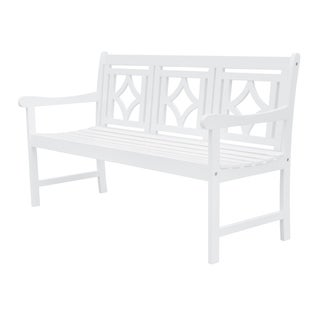 Link to Hydaburg Outdoor Patio Diamond 5-foot Bench by Havenside Home Similar Items in Patio Furniture
