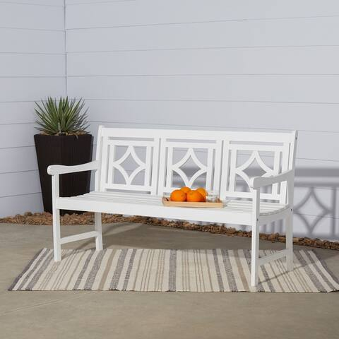 Havenside Home Hydaburg Outdoor Patio Diamond 5-foot Bench
