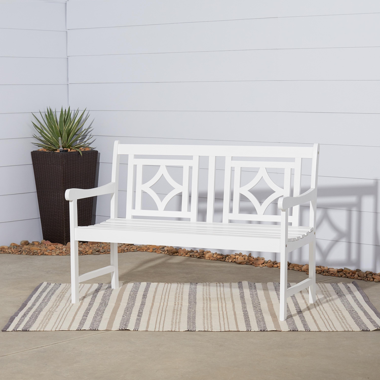 Marvelous Havenside Home Hydaburg Outdoor Patio Diamond 4 Foot Eucalyptus Hardwood Bench Ibusinesslaw Wood Chair Design Ideas Ibusinesslaworg