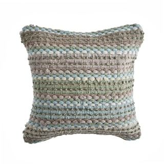LR Home Verdant Weave Multicolored Throw Pillow 18 inch