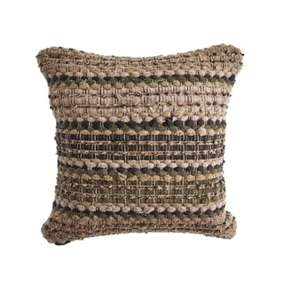 LR Home Khaki Chevron Striped Decorative Throw Pillow 18 inch