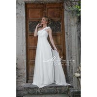 Asymmetrical Magical Bridal Gown from Milano Formals #AA221