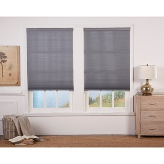 Link to Taylor & Olive Halfway Anchor Grey/White Light Filtering Double Cellular Shade (72 Inches long) Similar Items in Blinds & Shades
