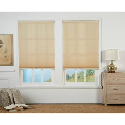 Taylor & Olive Halfway Straw/White Light Filtering Double Cellular Shade (72 Inches long)