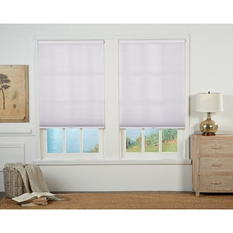 Taylor & Olive Halfway White Light Filtering Double Cellular Shade (72 Inches long)