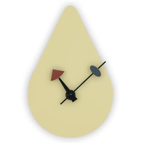 LeisureMod Manchester Cream raindrop Silent Non-Ticking Wall Clock