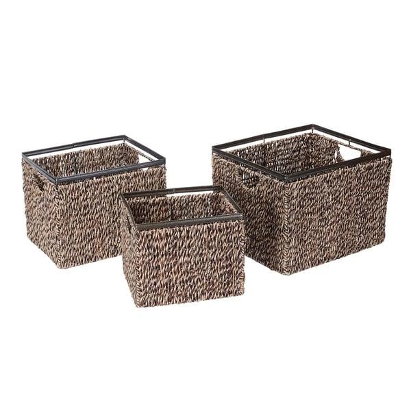 Natural Color Wicker Basket Rectangular 10L x 7 1//2W x 3D