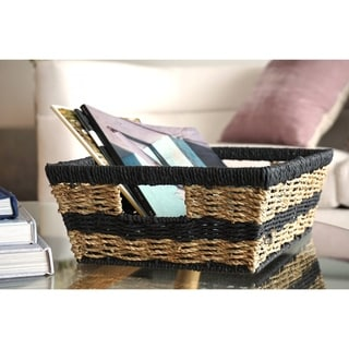 Handmade Modern Wicker Basket by Handcrafted 4 Home