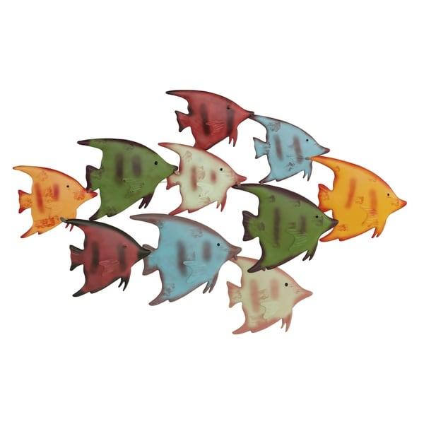 TROPICAL FISH ORNAMENTS SET OF 3 SEASIDE BEACH NAUTICAL