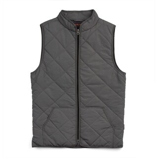 Wear First Micro Board Quilted Vest- Grey