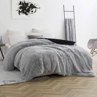 BYB Are You Kidding? Glacier Gray/ Black Coma Inducer Duvet Cover