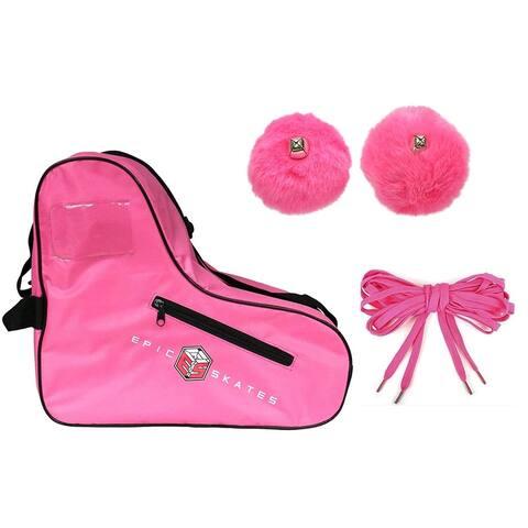 Epic Pink Roller Skate Accessory 3 Pc. Bundle w/Bag, Laces, Pompoms