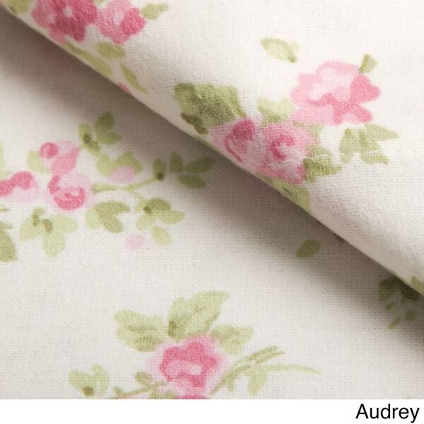 Laura Ashley Cotton Flannel Deep Pocket Sheet Sets Overstock 25750305