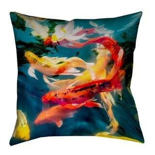 Justin Duane Koi Pond Pillow - Spun Polyester
