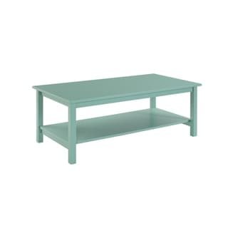 Landry Turquoise Blue and Green Wood End Table