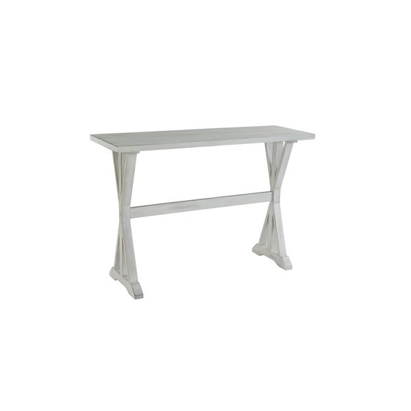 Jamestown Distressed White Wood Console Table