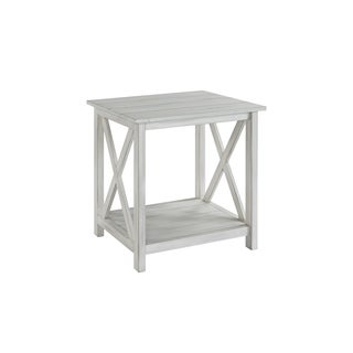 Jamestown Distressed-white Wood End Table