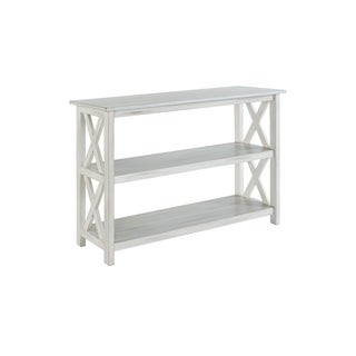 Jamestown Distressed White Wood Entryway Table