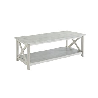 Jamestown Distressed White Wood Coffee Table