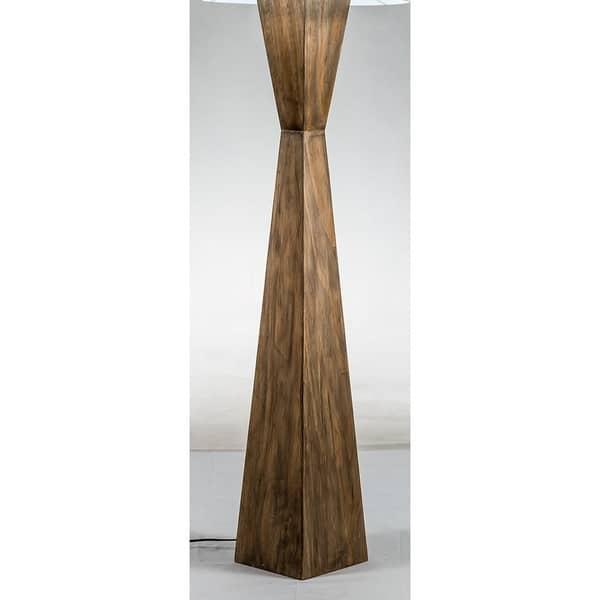 Shop Modern Home Espresso Geometric Wood Floor Lamp W