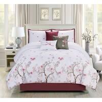 Asher Home Anna Cherry Blossom 7-piece Comforter Set