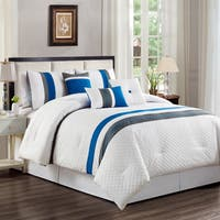 Asher Home Millie Striped 7-piece Comforter Set