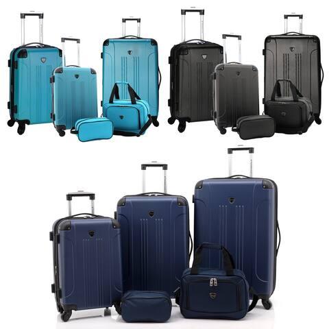 "Travelers Club Chicago Plus 5PC Exp. Rolling Value Luggage Set - 28""/24""/20""/15""/10"""