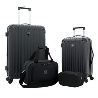 Travelers Club Midtown Collection 4-Piece Rolling Expandable Hardside Value Set