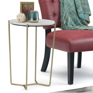 """Silver Orchid Stolz Handmade Accent Table - 16"""" W x 16"""" D x 23"""" H"""