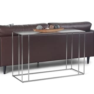 """Copper Grove Rodez Stainless Steel Console Table - 47"""" W x 16"""" D x 30.2"""" H"""