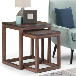 "Carbon Loft Darian Nesting 2-piece Table - 21"" W x 18.7"" D x 23.4"" H"