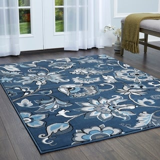 Tremont Contemporary Floral Area Rug