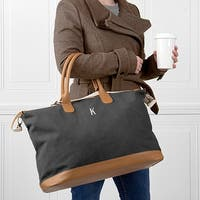 Personalized Black Washed Canvas Weekender
