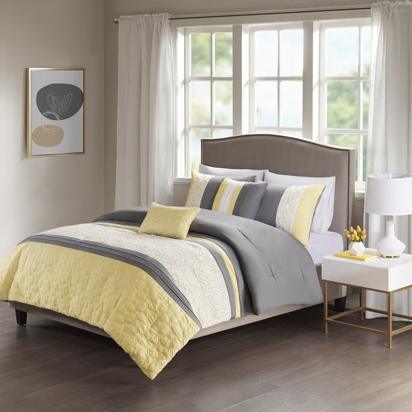 Shop 510 Design Shane Yellow/ Grey Embroidered 5-piece ...