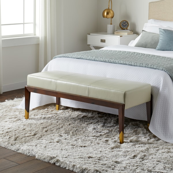 Shop Strick Amp Bolton Verona Creme Faux Leather Bench With