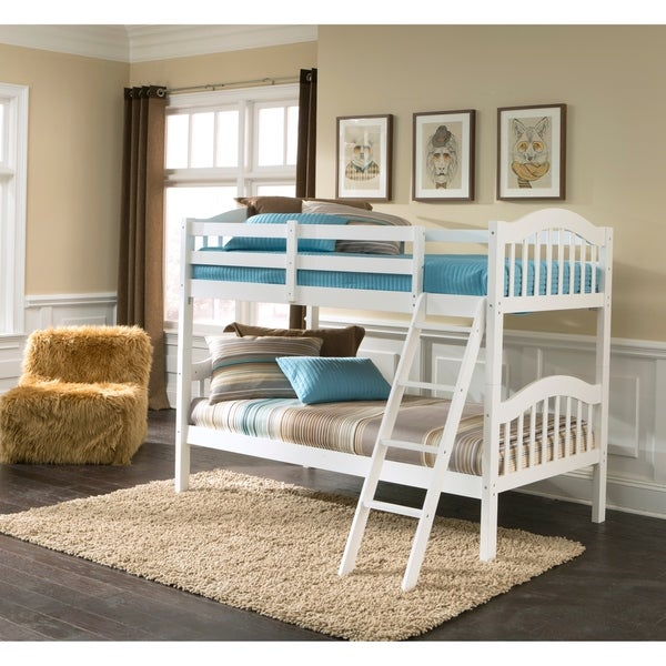 Shop Storkcraft Longhorn Hardwood Twin Bunk Bed With Ladder And