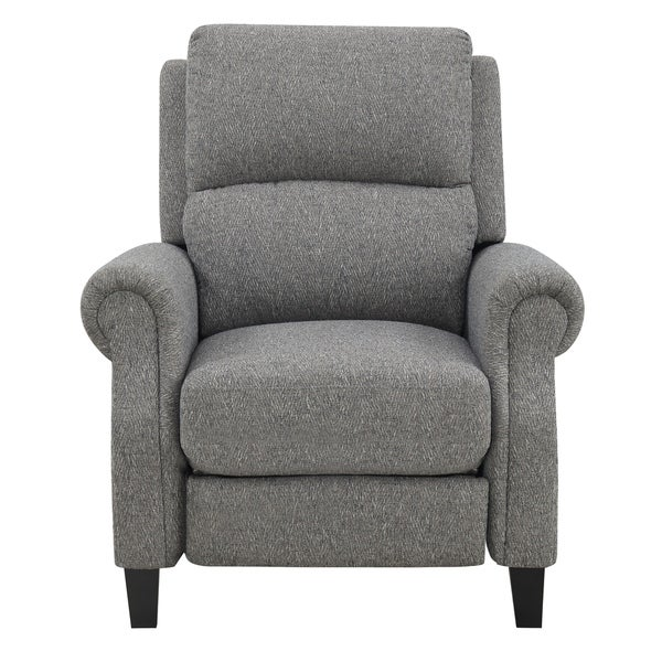 Shop Emerald Home Torrey Slate Recliner With Pillow Back And Rolled