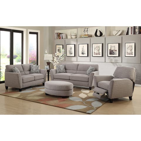 Emerald Home Speakeasy Speckled Brown Recliner with Pillowtop Back, Tapered Arms, And Block Feet