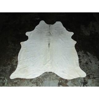 """Very Rare White Cowhide - 6 feet x 6.83 feet/72"""" x 82"""""""