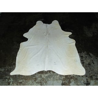 "White Cowhide - 75"" x 83""/6.25 feet x 6.92 feet"