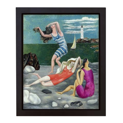 The Bathers, 1918 (Las Banistas) by Pablo Picasso Framed Canvas Giclee Art (17 in x 14 in Framed Size, Ready to Hang)