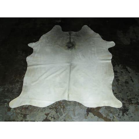 "Real White Cowhide - 73"" x 83""/6.08 feet x 6.92 feet - 73"" x 83""/6.08 feet x 6.92 feet"