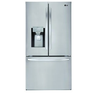 """LG LFXS26973S  26 cu. ft. Smart wi-fi Enabled French Door Refrigerator Stainless Steel - 7'10"""" x 10'6"""""""